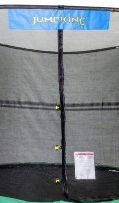 "8' Enclosure Netting With 4 ""Short"" Poles For 5.5"" Springs With JK Logo Model NET8-SP4/5.5JK"