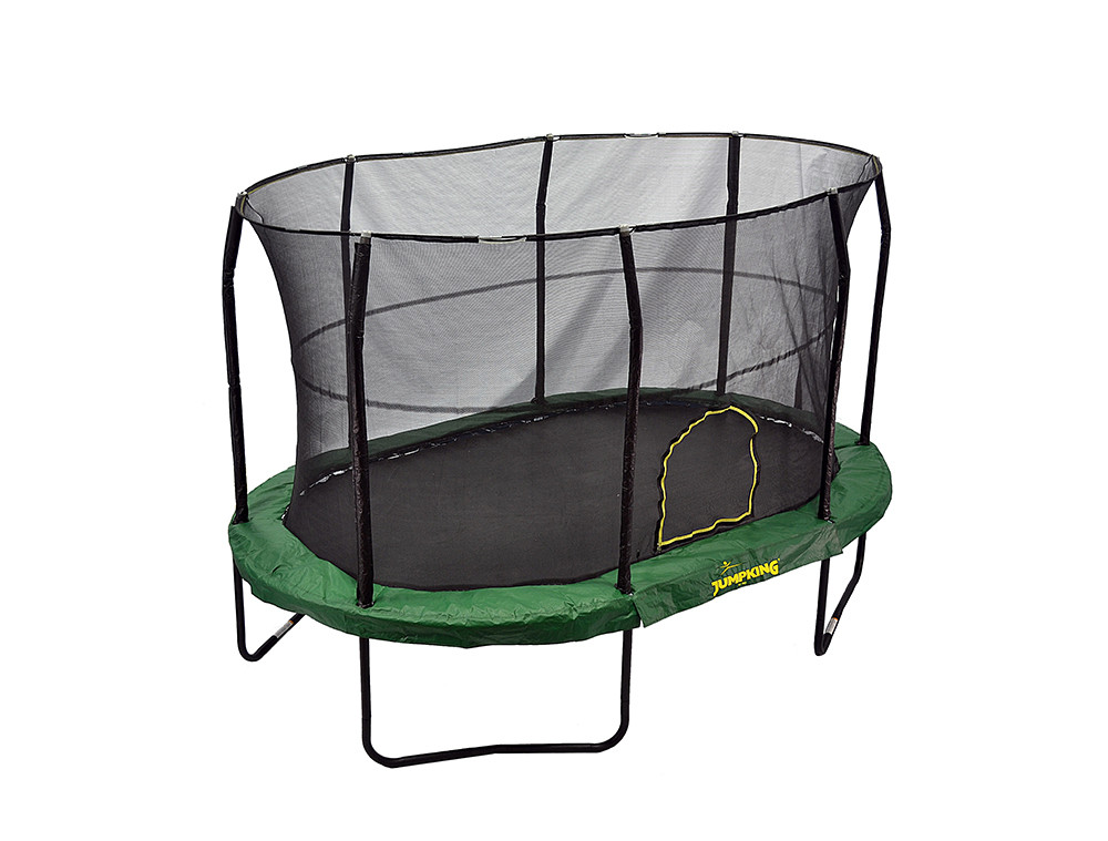 JK914GR JUMPKING OVAL 9' x 14' WITH SOLID GREEN PAD