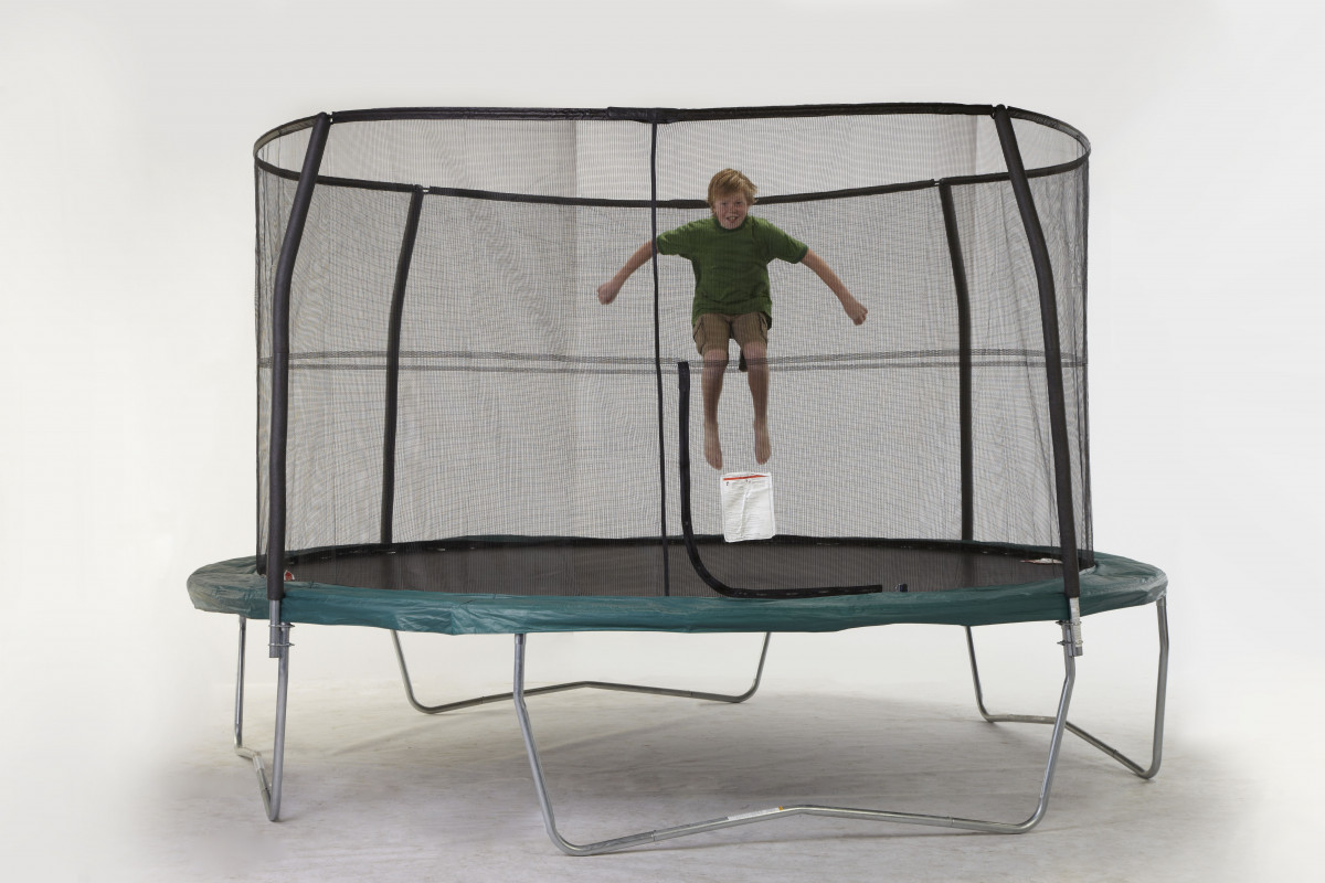"12ft 4 Poles Enclosure Net For 5.5"" Springs  Model NET12-JP4/5.5  **TRAMPOLINE SOLD SEPARATELY**"