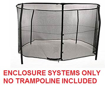 12ft  Bazoongi Combo Enclosure System Model BZ1209E4 TRAMPOLINE SOLD SEPARATELY