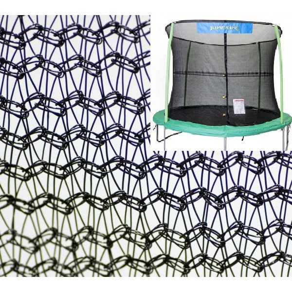 Jp Trampoline Parts: 14' Enclosure Netting For 6 Poles With JumpKing Logo Model