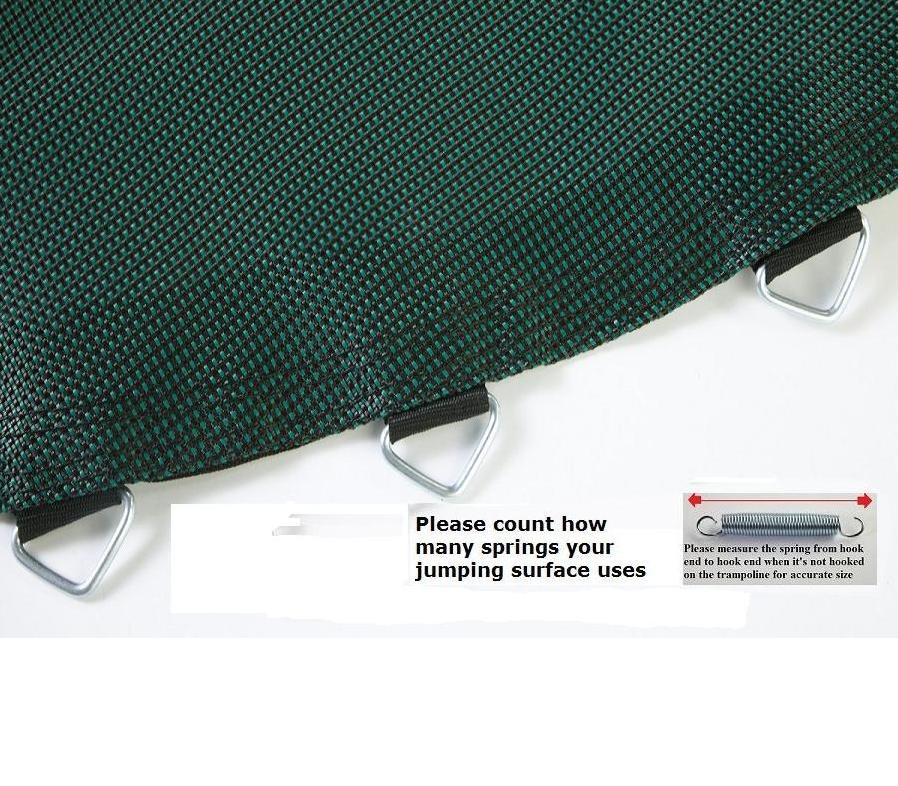 Jumping Surface For 14' Trampoline With 96 V-Rings For 8.5 Inch Springs (Black/Green)Model BED1496-8.5BG