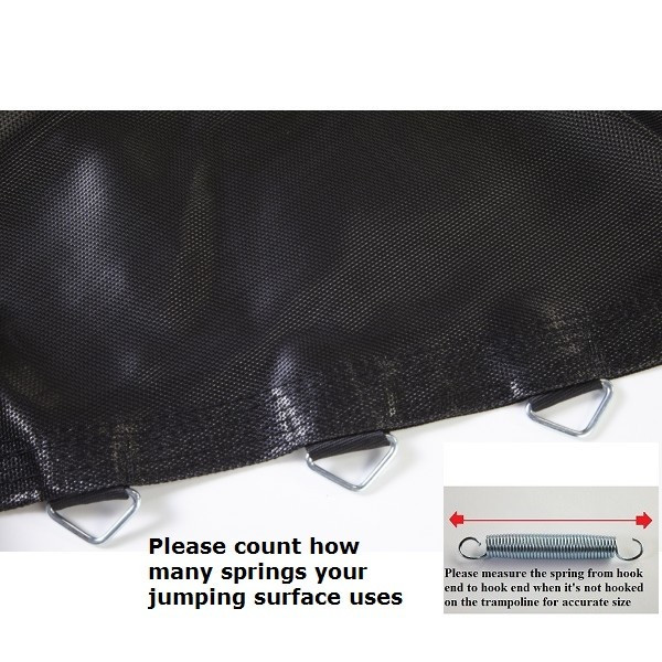 """Jumping Surface For 15X17ft Oval Trampoline With 118 V-rings for 7"""" Springs Model BEDOV1517118-7"""