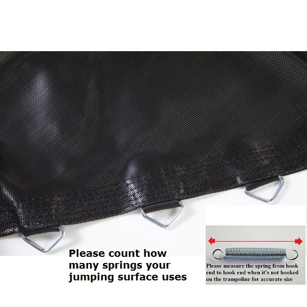 "Jumping Surface For 7.5' Hexagon Trampoline With 36 V-rings for 5"" Springs Model BEDHX7.536-5"