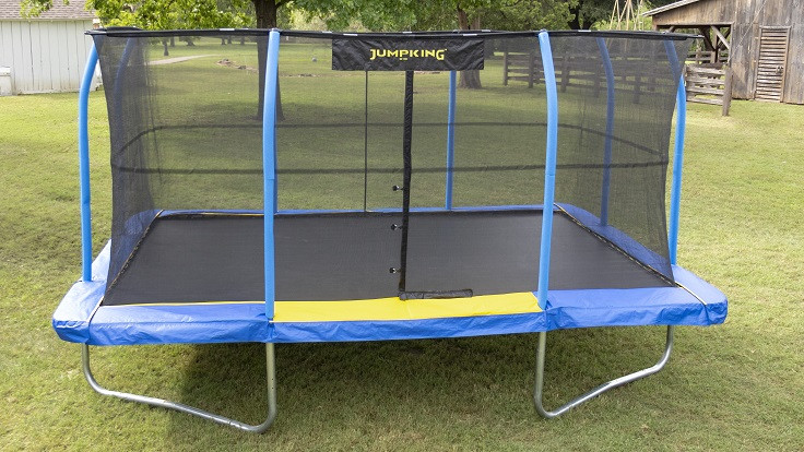 10' X 15' JumpKing Rectangular Blue/Yellow Pad Trampoline Combo Model JKRC1015BYC3-DAL