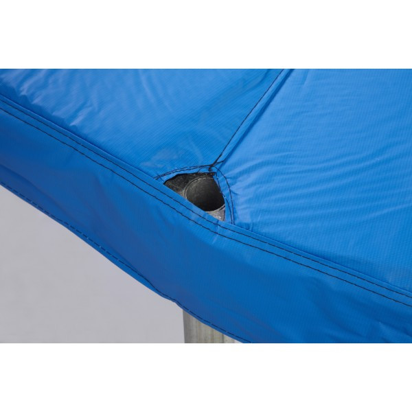 "12ft Blue Safety Pad For 4 Poles 10"" Wide Model PAD12JP4-10B For 5.5"" and 7 inch sized Springs"