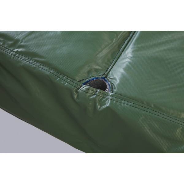 """15ft' Green Safety Pad For 6 Poles With 10"""" Wide Model PAD15JP6-10G For 5.5"""" and 7"""" Inch Sized Springs"""
