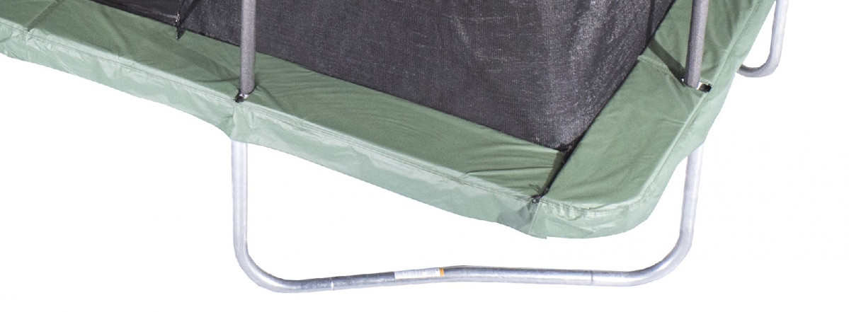 "10'X15' Green Rectangular Safety Pad For 8 Poles 10"" Wide Model PADRC1015JP8-10G"