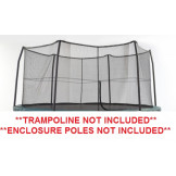 "12' Enclosure Netting For 6 Short Poles for 5.5"" Springs Model NET12-SP6  **TRAMPOLINE SOLD SEPARATELY**"