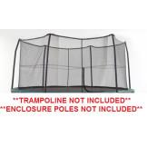 "12' Enclosure Netting For 6 Short Poles for 5.5"" Springs Model NET12-SP6  **TRAMPOLINE SOLD SEPARATELY**"
