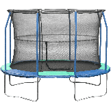 """8' X 11.5' Blue/Green Safety Oval Pad For 8 Poles 10"""" Wide Model PADOV8115JP8-10BG"""