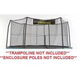 "15' Enclosure Netting With 6 ""Short"" Poles For 5.5"" Springs With JK Logo Model NET15-SP6/5.5JK"