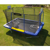 Jumpking 10' x 15' Rectangular -- BB Hoop, Volleyball, Court, Foot Step 2020 - (JKRC10152BHC3-V1)