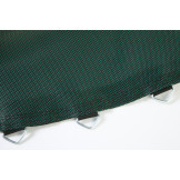 "Oval 8'x14' Jumping Surface With 60 V-Rings -6.5"" (Black And Green) Model BEDOV81460-6.5BG"