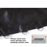 Jumping Surface For 10 Foot Trampoline with 60 V-rings for 5.5 Inch Springs Model BED1060-5.5