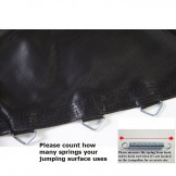 """JUMPING SURFACE 9ft X 14ft OVAL TRAMPOLINE WITH  84 V-RINGS-7"""" BEDOV91484-7"""