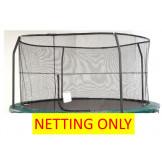 "14' Enclosure Netting For 4 Poles For 7"" Springs With JK Logo Model NET14-JP4/7JK"