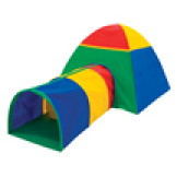 Play Structure- Cabana and Multi-Color Tunnel Combo